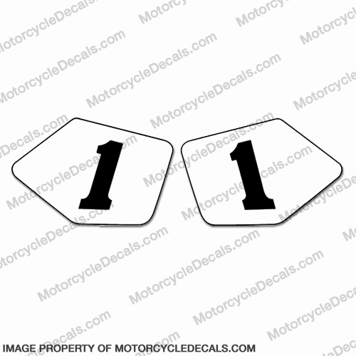 Ducati 888 SP4 Number Plate #1 Decals