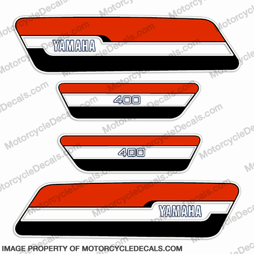 Yamaha 1976 RD400 Decal Kit - Red/Black