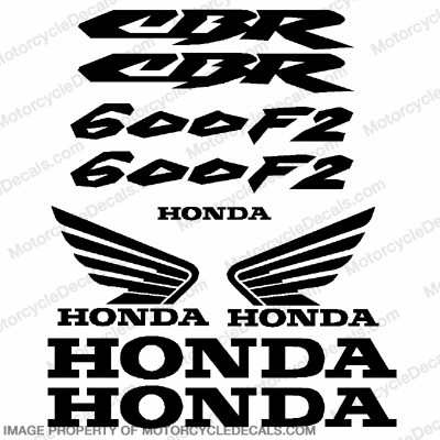 600F2 Generic Decal Kit - Black