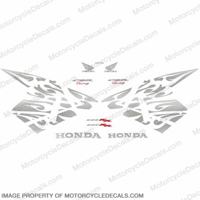 600RR Tribal Stock Decal Kit - Chrome