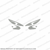 600RR Upper Fairing Tribal Decals - Silver
