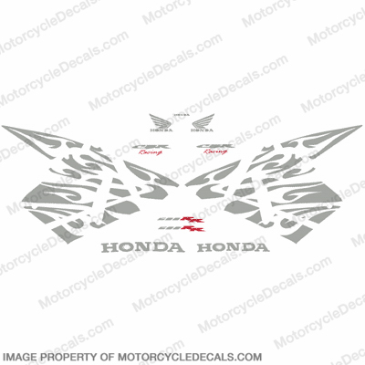 600RR Tribal Stock Decal Kit - Silver