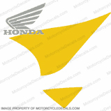 929 Gas Tank Decal Left (Yellow/Silver)