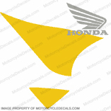 929 Gas Tank Decal Right (Yellow/Silver)