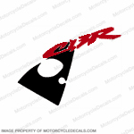 "954 Left Upper Fairing ""CBR"" Decal (Red/Black)"