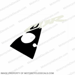 "954 Left Upper Fairing ""CBR"" Decal (White/Black)"