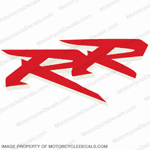 "954 Left Mid Fairing ""RR"" Decal (Red/White)"