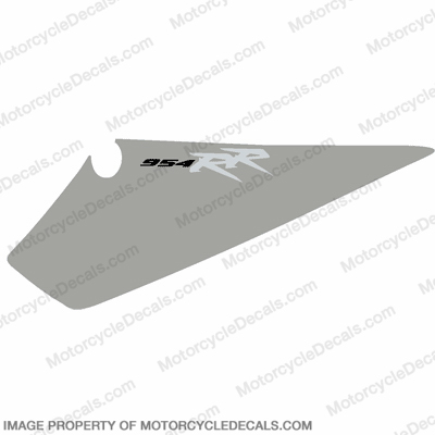 954 Left Tail Decal (Silver)