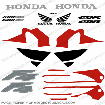 F4 Full Replica Decal Kit - Red/Black