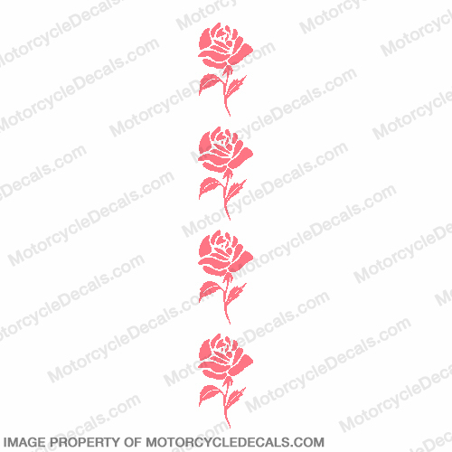 Rose Decal (set of 4)