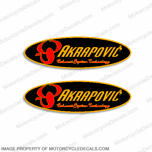 Akrapovic Decals - Set of 2
