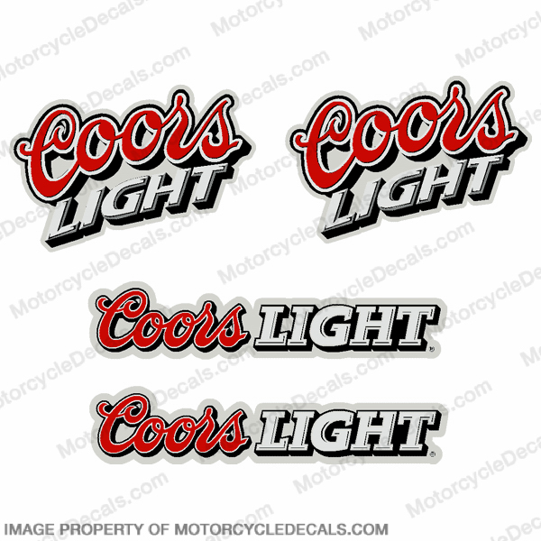 Coors Light Pocket Bike Decals