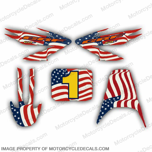 CRF50 American Flag Racing Decal Kit
