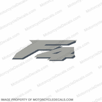"F4 Left ""F4"" Decal (Slate/Met. Silver)"