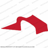 F4i Left Mid to Upper Fairing Decal (Red)
