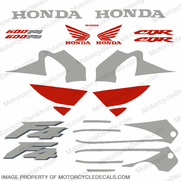 F4 Full Replica Decal Kit - Silver/Red