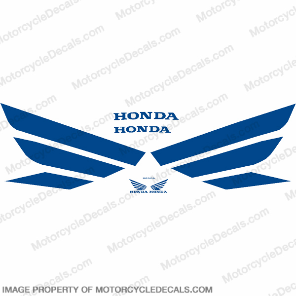 Generic Wing Decal Kit - Blue