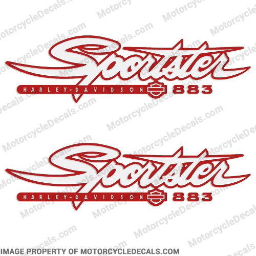 Harley-Davidson Sportster 883 Decals (Set of 2) - Any Color!