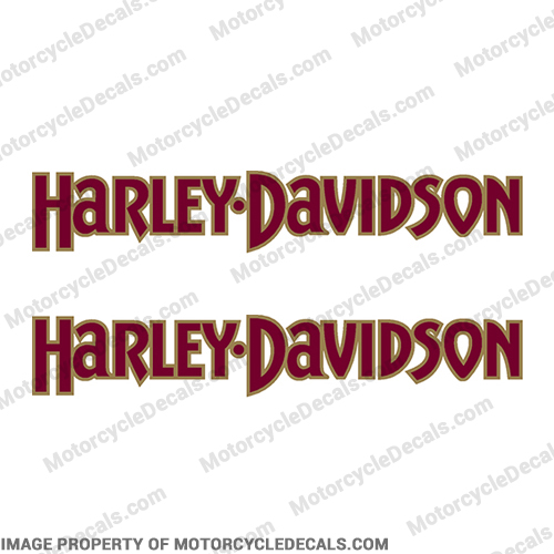 Harley-Davidson Fuel Tank Motorcycle Decals (Set of 2) - Style 3