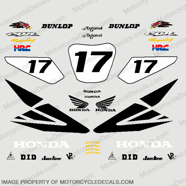 Pocket Bike Honda AMA Superbike Decal Kit
