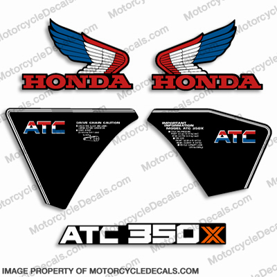 Honda 350X Decal Kit - 1985
