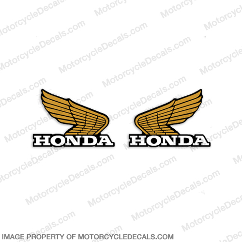 Honda Vintage Wing Decals - Yellow