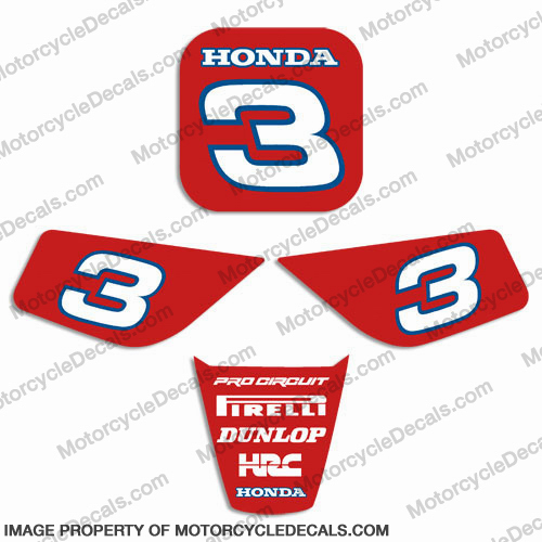 Honda Z50 Custom Number Plate Decals