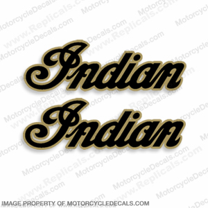 Indian Motorcycle Decals (Set of 2) - Gold