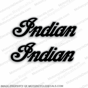 Indian Motorcycle Decals (Set of 2) - Silver