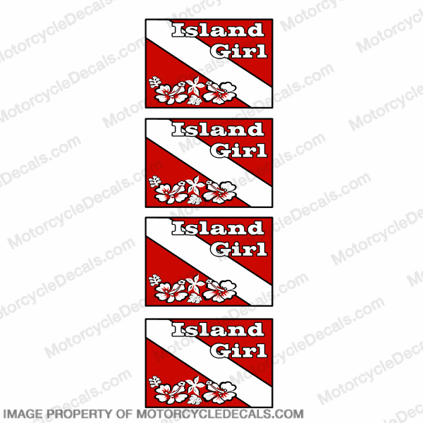 Flag - Island Girl Dive Decal