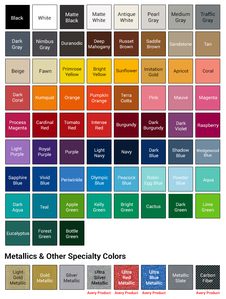 Color chart motorcycle decals color chart nvjuhfo Choice Image