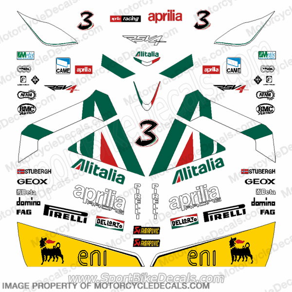 Aprilia RSV-4 Race Replica Decal Kit - Max Biaggi
