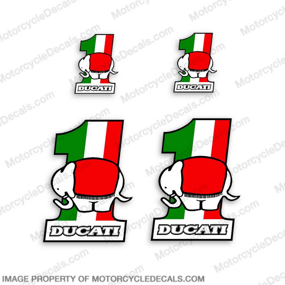 "Ducati Elephant ""1"" Decals"