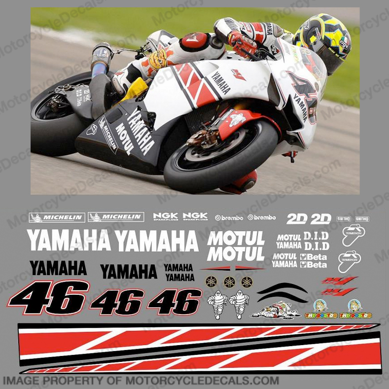 Yamaha Valentino Rossi Race Replica Decals - 2005