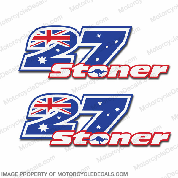 "Casey Stoner ""27"" Decals - Set of 2"