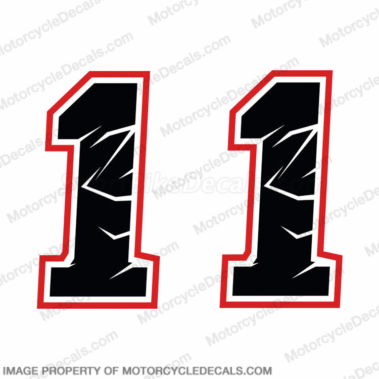 "Max Biaggi ""1"" Decals - Set of 2"