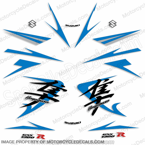 Suzuki GSX-R 1300R Full Decals (Blue) - 2009