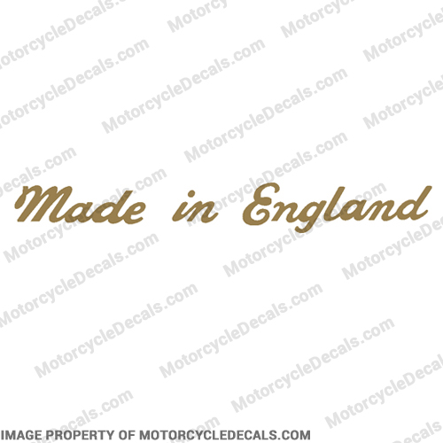Triumph Made In England Decal