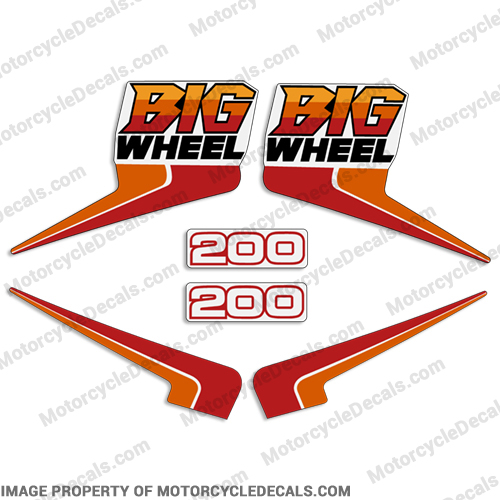 1986 Yamaha 200cc Big Wheel Decals (BW200)
