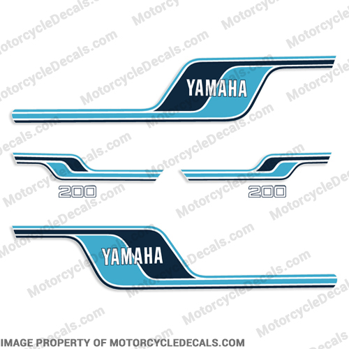 Yamaha 1977 RD200 Decal Kit - French Blue