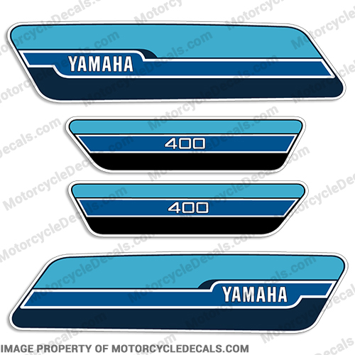 Yamaha 1976 RD400 Decal Kit - French Blue
