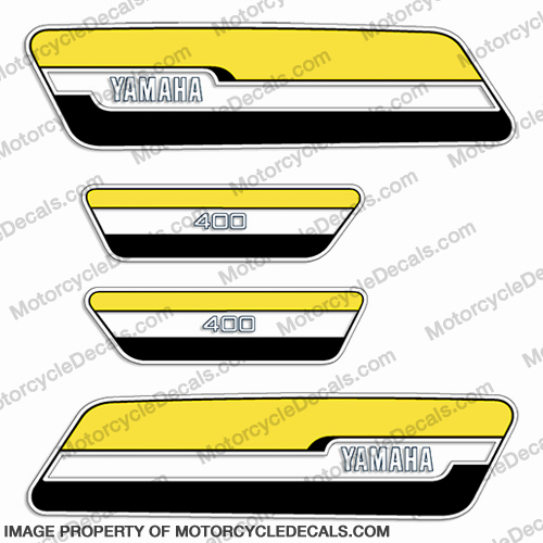 Yamaha 1976 RD400 Decal Kit - Yellow/Black
