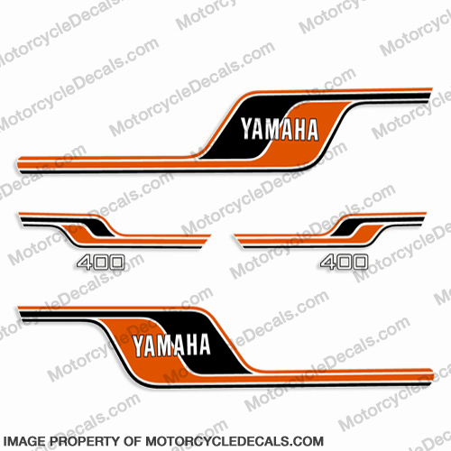Yamaha 1977 RD400 Decal Kit - Chappy Red