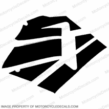 600RR Right Fairing Decals (Black)