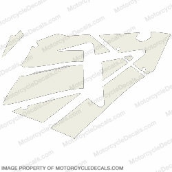 600RR Right Fairing Decals (White)