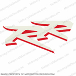 "954 Left Mid Fairing ""RR"" Decal (White/Red)"