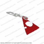"954 Right Upper Fairing ""CBR"" Decal (Red/Silver)"