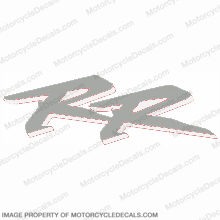 "954 Right Mid Fairing ""RR"" Decal (Silver/White)"