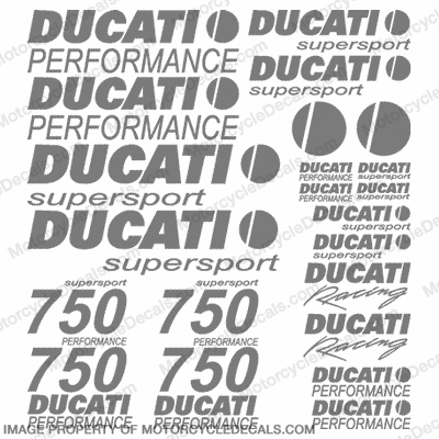 Ducati 750 Supersport Decal Kit - Any Color!