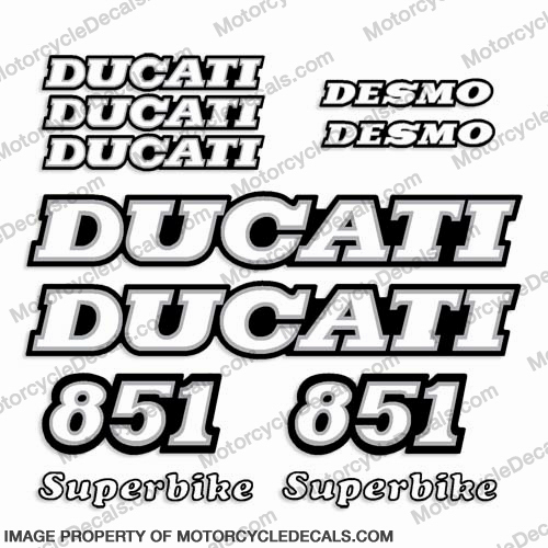 Ducati 851 Decal Kit 1989 1990